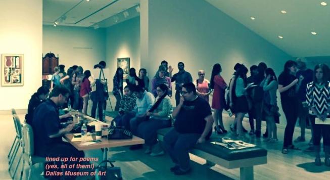 Dallas Museum Art - poems line