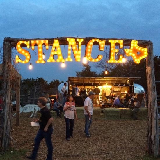 Stance -- lit sign