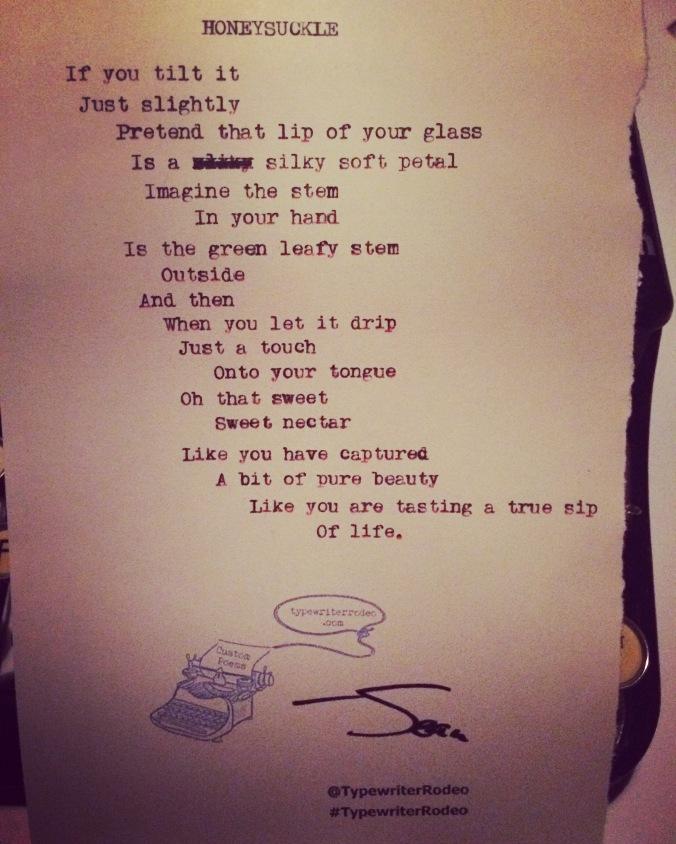 honeysuckle-poem