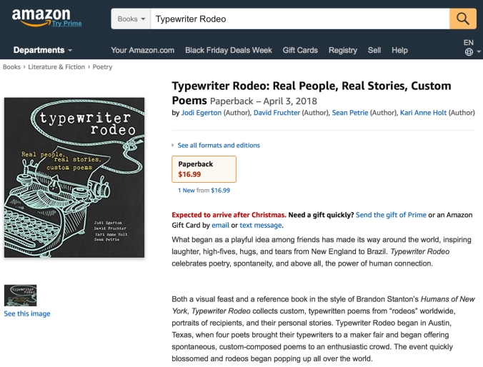 Amazon listing, 11-20-17